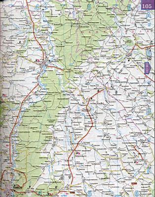 Карта тамбовской области 1см 5км карта
