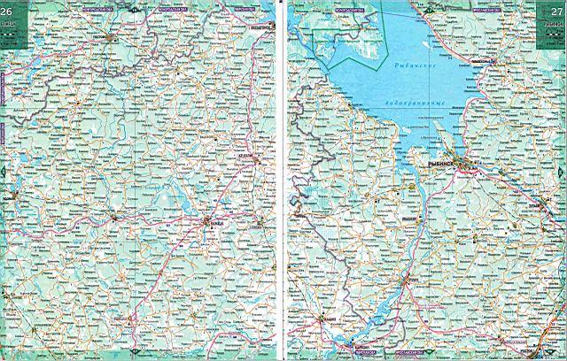 Карта Ярославской области.