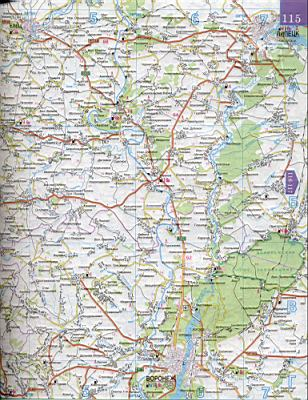 Карта Курской области 1см=5км.