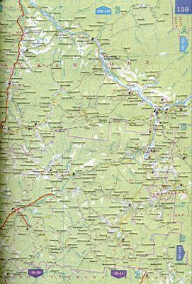 Карта вологодской области 1см 15км