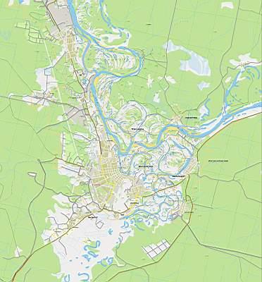 Карта Сыктывкара. Карта схема