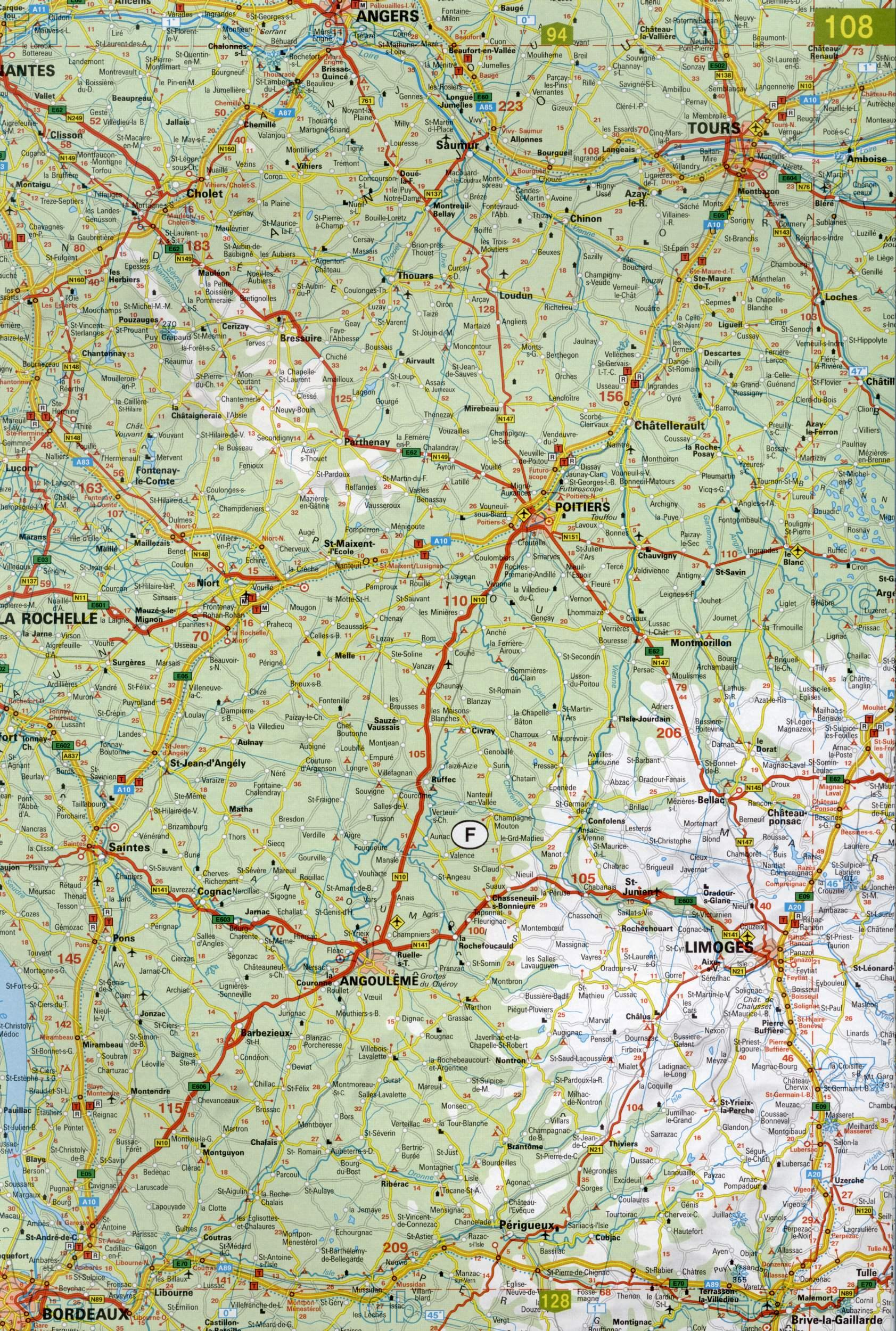 Карта европы большая подробная карта