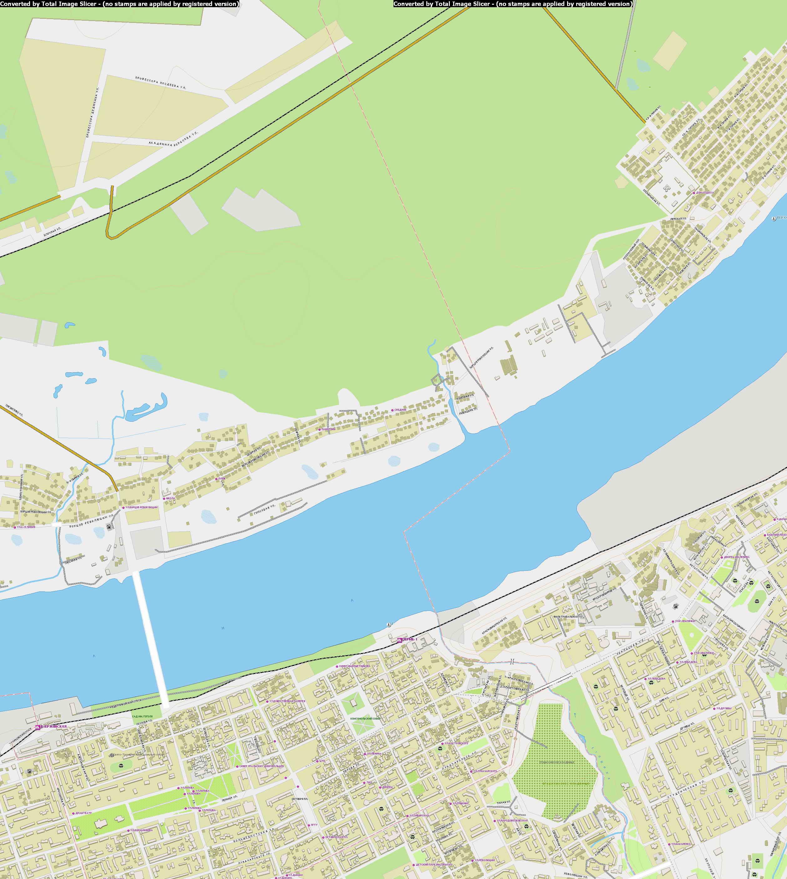 Карта Города Королев с Улицами, Домами, Номерами