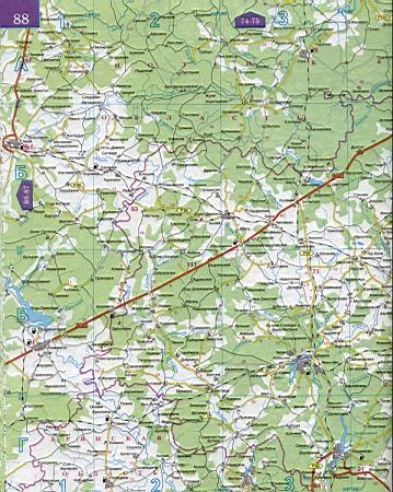 Карта Смоленской области 1см=5км. Карта автомобильных ...: http://rus-map.ru/230577.html