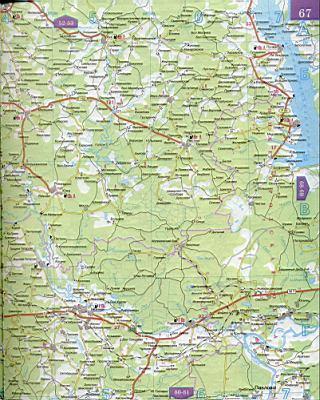 Карты: подробная карта владимирской области с автодорогами.