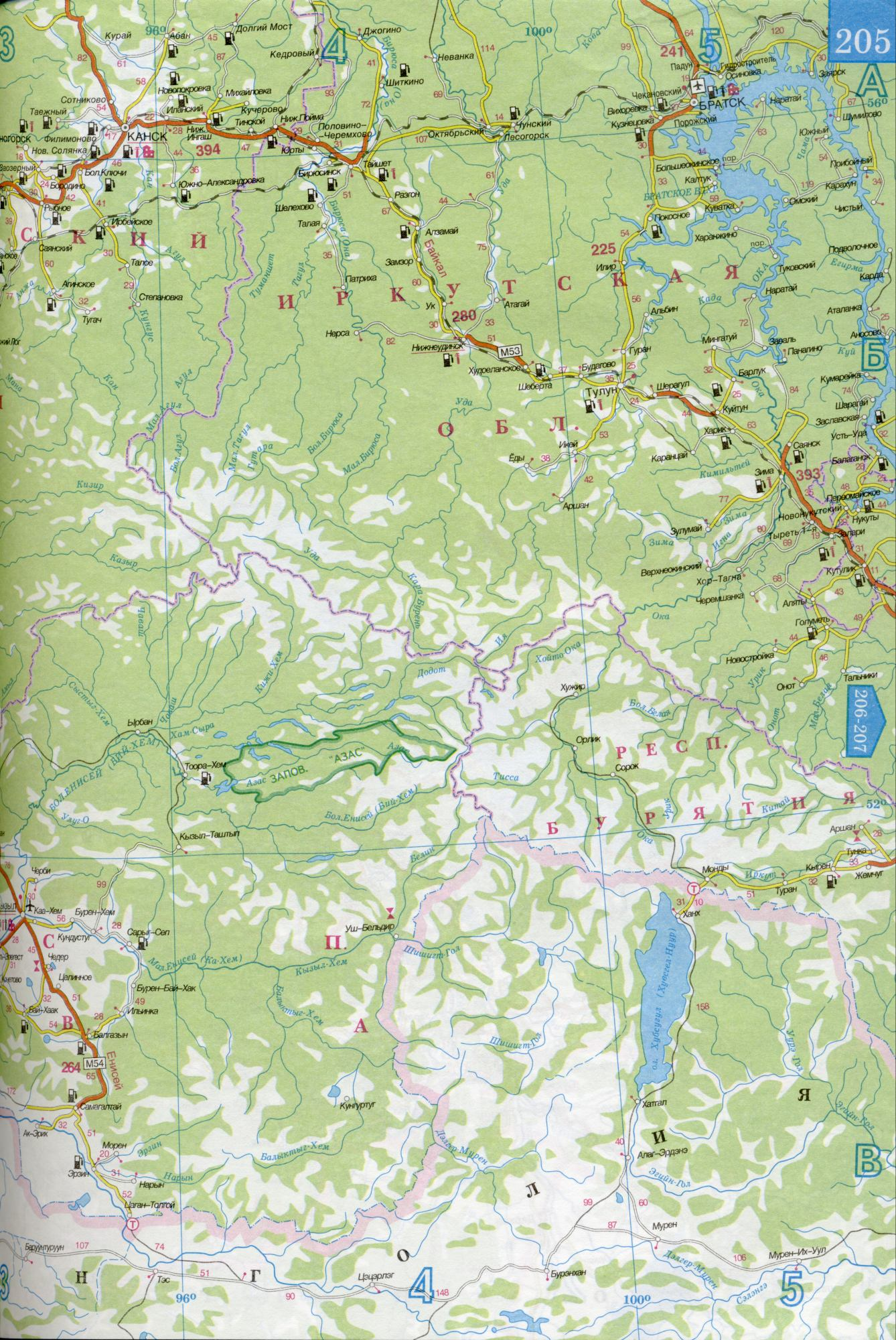 Карта Красноярский Край
