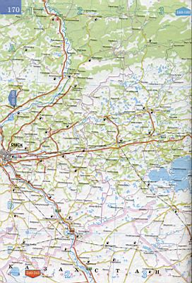Карта новосибирской области 1см 15км