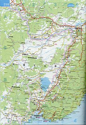 Карта еврейской автономной области