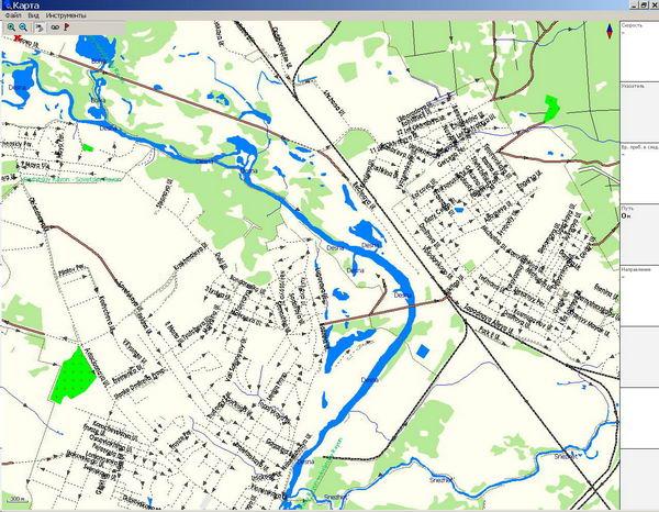 GPS карта г. Брянск. скачать