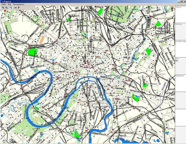 GPS карта г. Москва. скачать