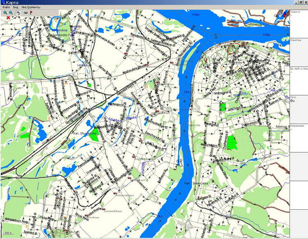 GPS карта г. Нижний Новгород.