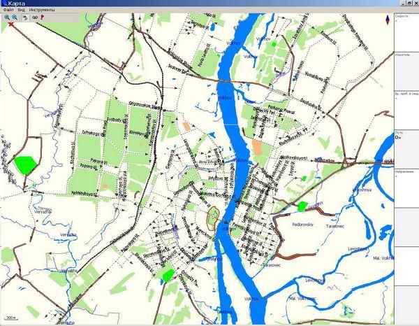 GPS карта г. Новгород Великий.