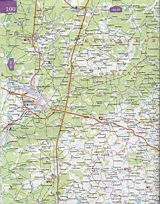 Карта дорог юга Европейской