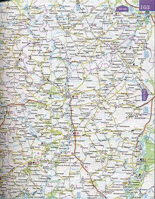 Карта дорог юга России.