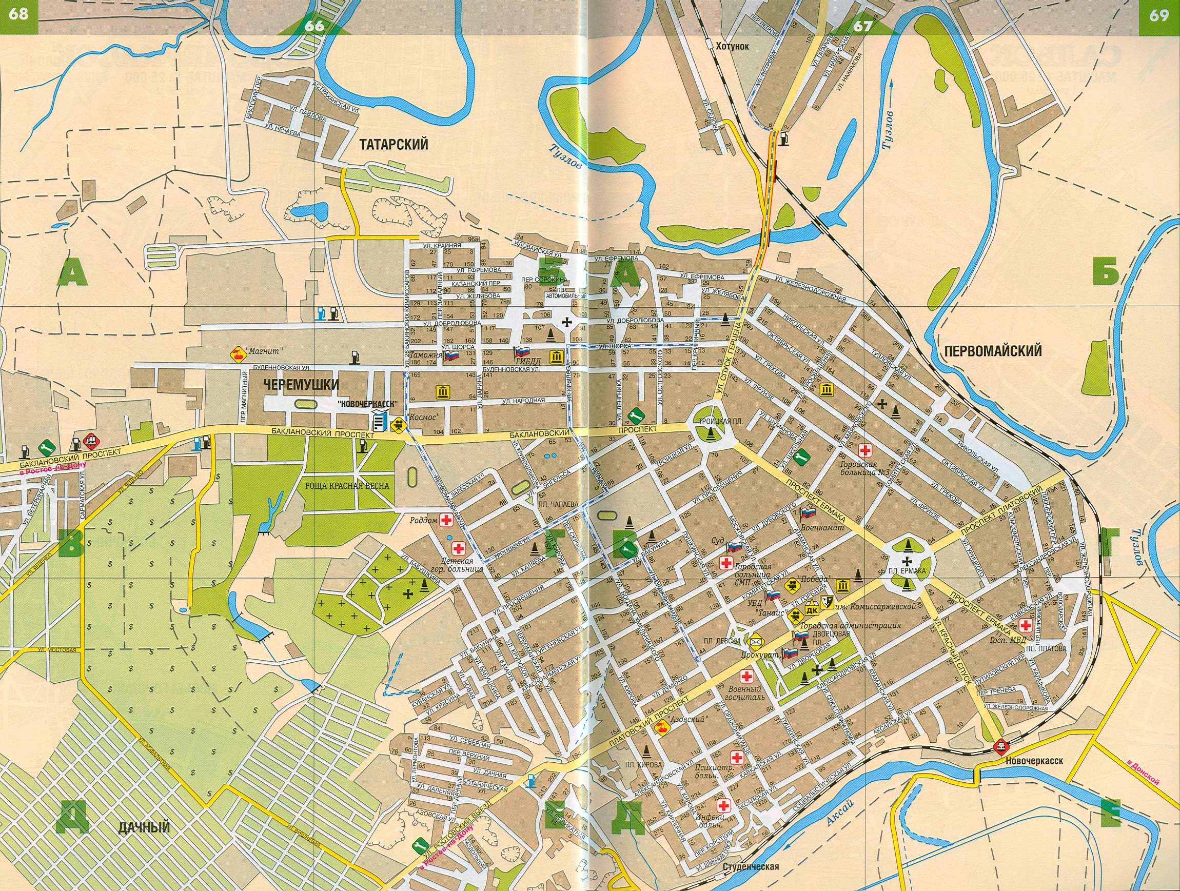 Карта Новочеркасска. Подробная карта улиц г.Новочеркасск ...: http://rus-map.ru/map268634_1_0.htm