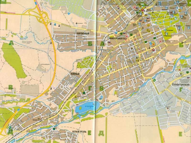 Ставропольский край. Карта