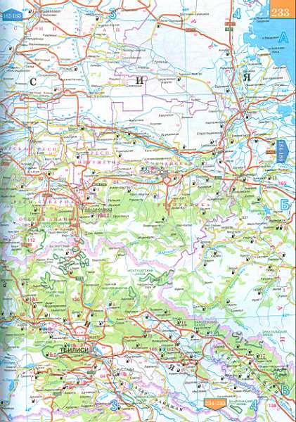 Автомобильная карта грузии армении