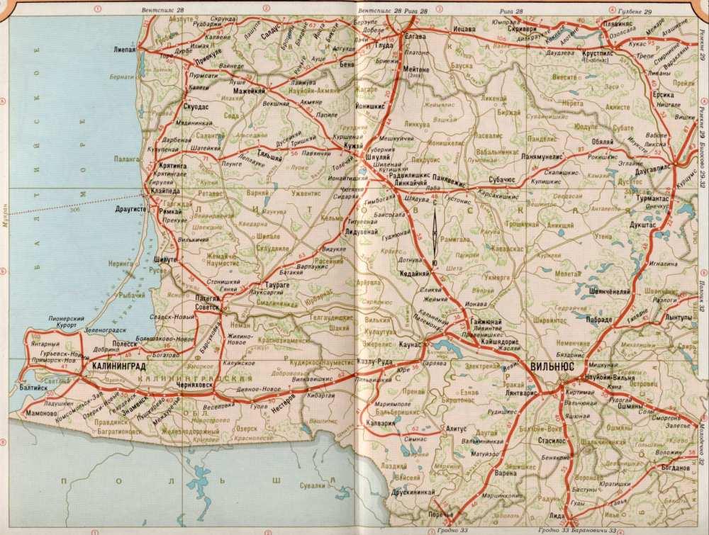 области России. Карта жд