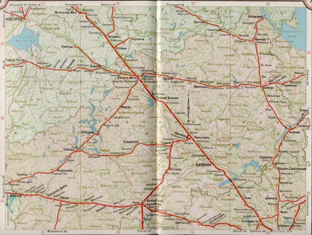 Карта жд Тверской области