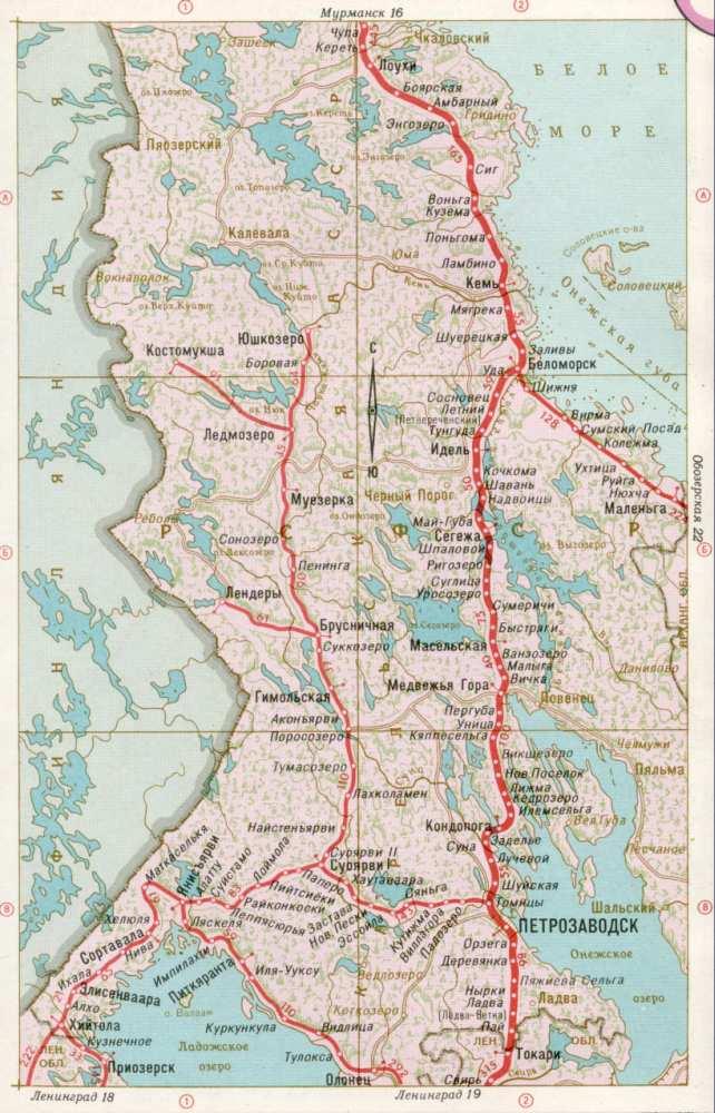 Карта жд Карелия, Петрозаводск
