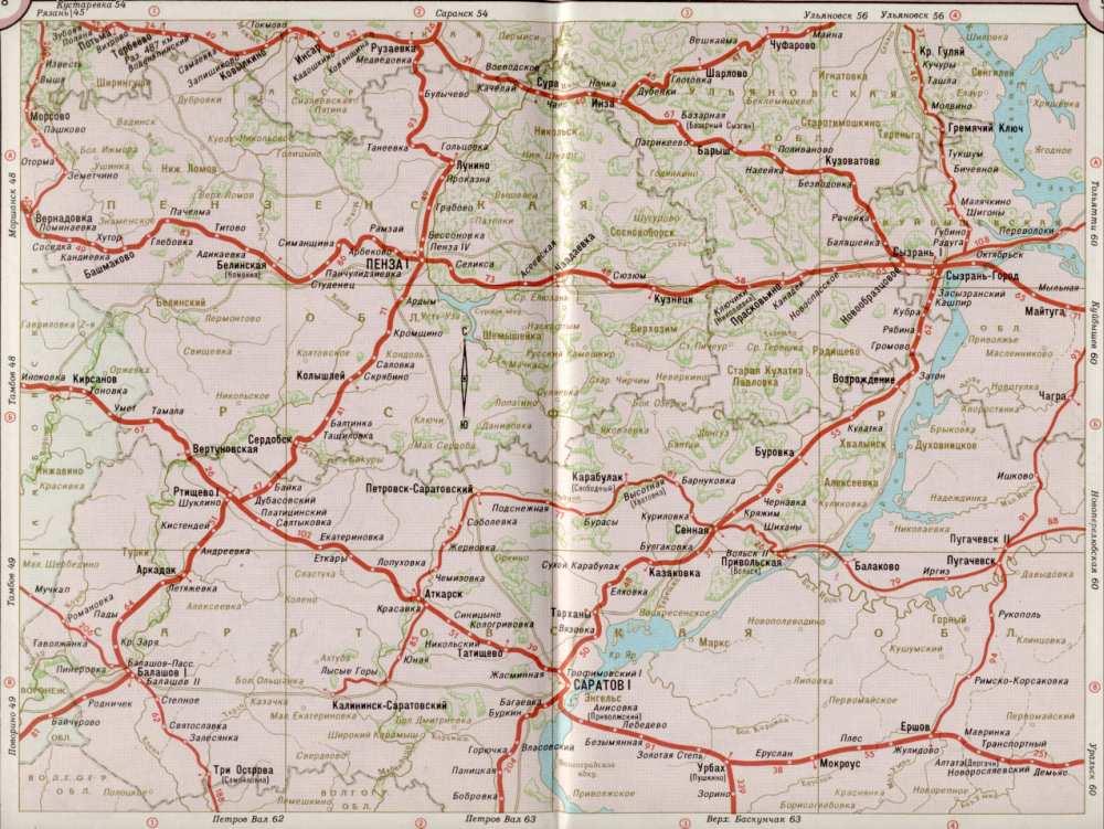 Карта жд Саратовская область,