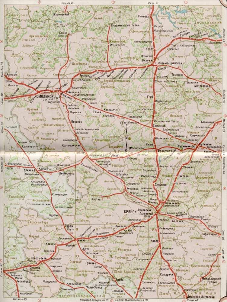 Карта Смоленской области - железные дороги. Карта жд ...: http://rus-map.ru/289643.html
