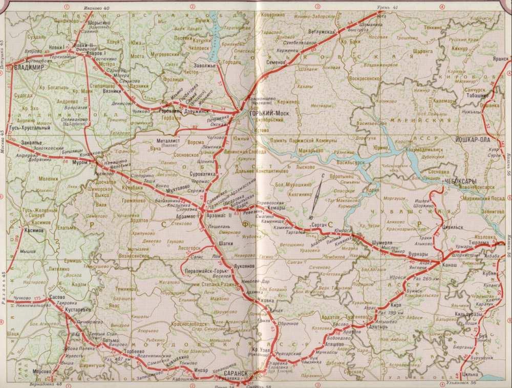 Карта железных дорог