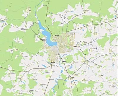 Ижевск. Карта окрестностей