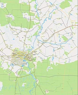 Йошкар-Олы. Карта схема