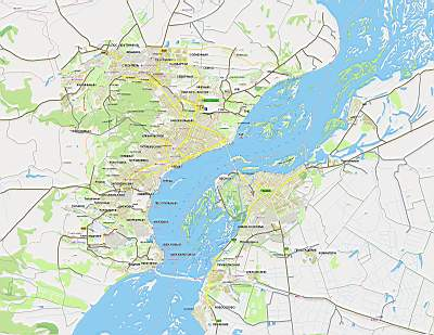 Карта Саратова с названиями
