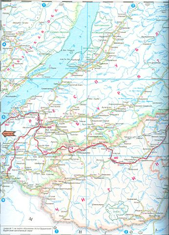Карта Читинской области.