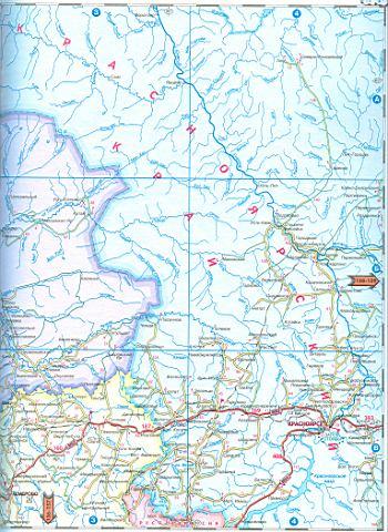 Карта Томской, Кемеровской и
