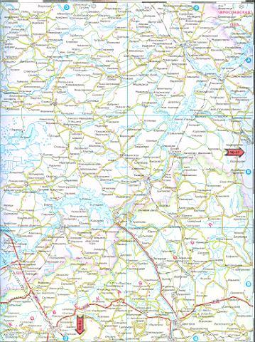 Карта автодорог Московской