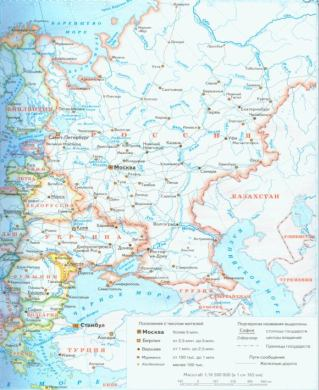 Карта россии политическая карта