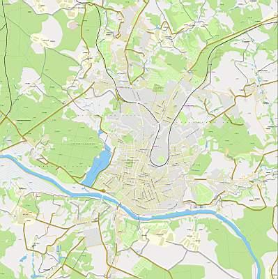 Карта города Калуга масштаба