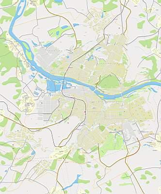 Кемерово. Карта районов