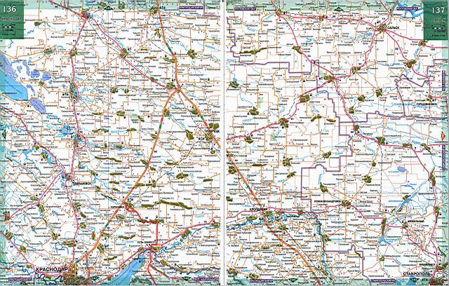 карта дорог краснодарский край подробная скачать