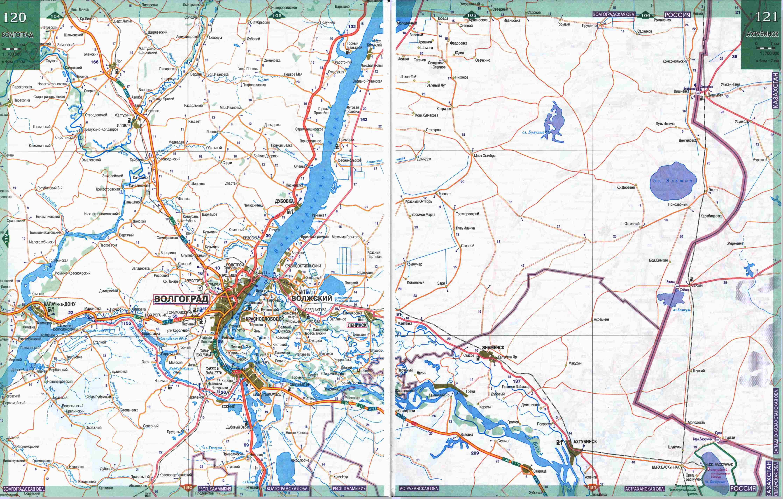 MagMapsRu  Карта автомобильных дорог Волгоградской области