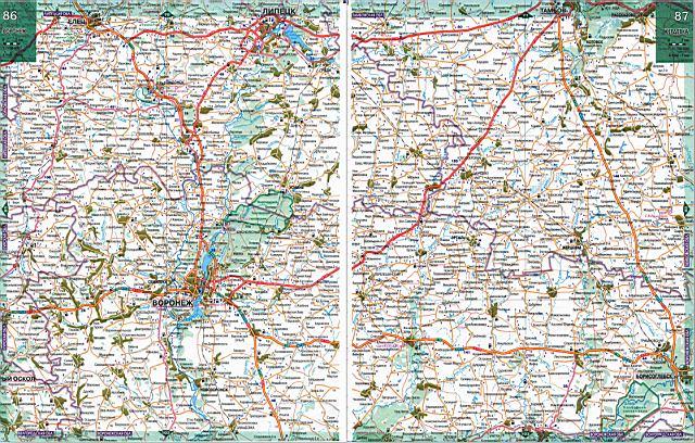 Карта дорог - Воронежская область. Подробная карта ...: http://rus-map.ru/836518.html