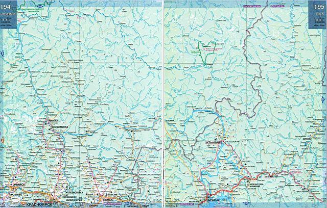 Карта дорог - Иркутская