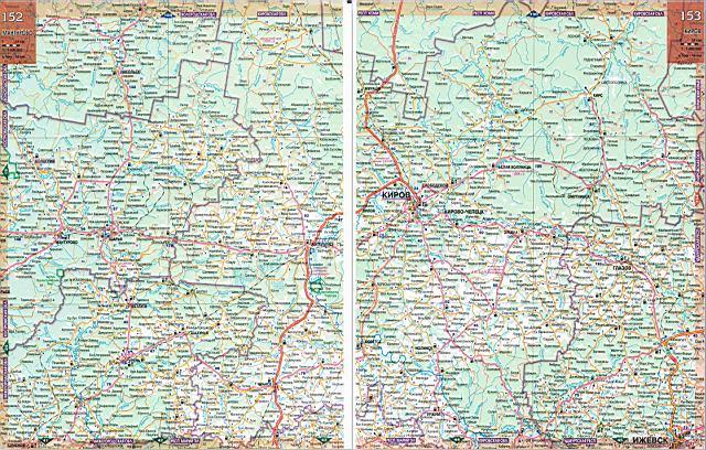 Карта Кировской Области С Районами И Деревнями Подробная