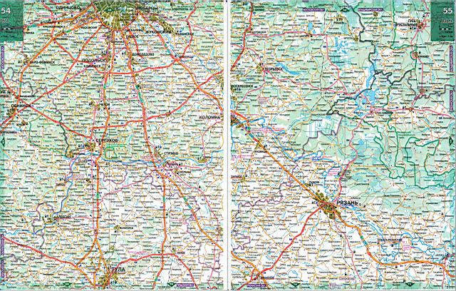 Карта дорог - Калужская