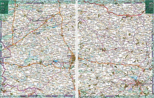 Карта дорог Курской области.