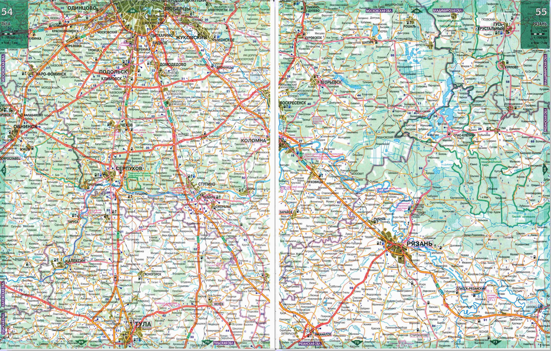 Автомобильные карты России Карты автодорог России
