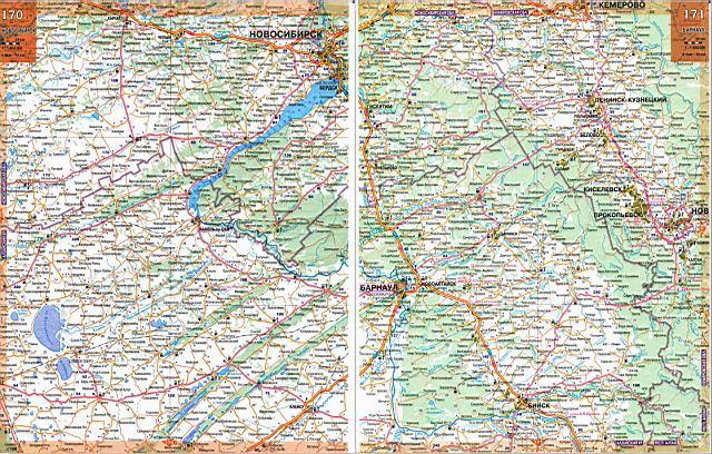Карта автодорог Алтайского