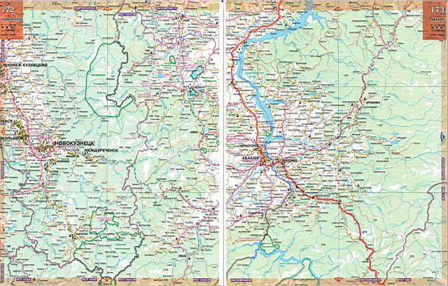 Атлас Сибири - карта дорог