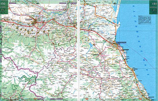 Схема дорог дагестана