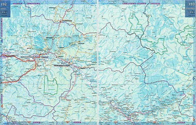 Карта дорог ХМАО.