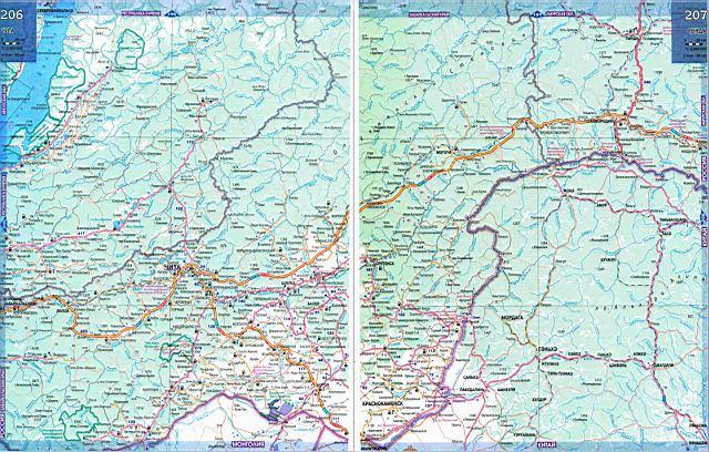 Карта Забайкальского края