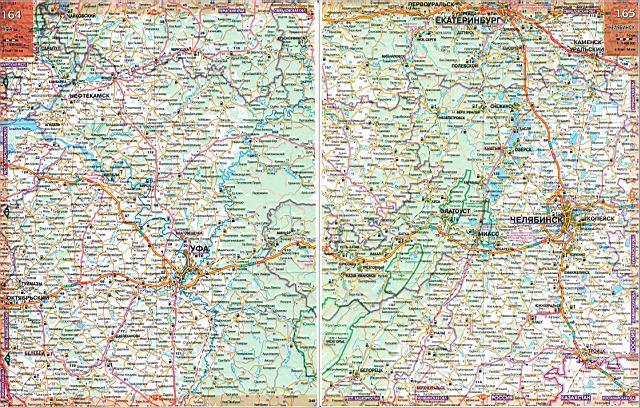 России карта челябинской области